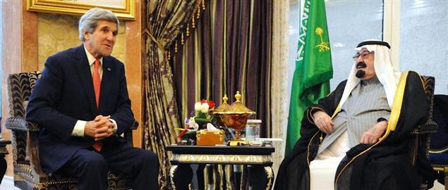 Secretary John Kerry with Saudi King Abdullah