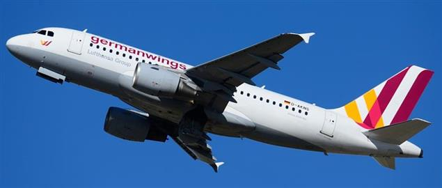 Germanwings airplane after takeoff