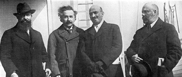 Einstein and leaders of the World Zionist Organization from 1921  No description availab