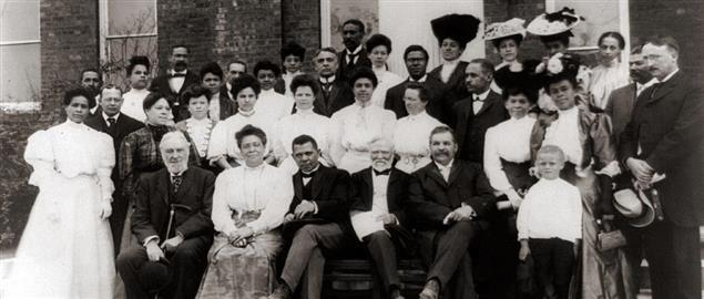 Carnegie with Booker T. Washington at the Tuskegee Institute in 1906