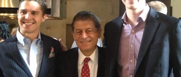 Bates and Ramsey at an event in Dallas, TX with Judge Andrew Napolitano.