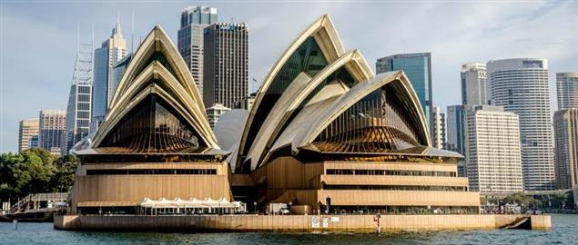 View of the Sydney Opera House from the ocean