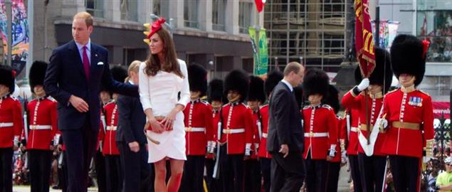 Prince William and the Duchess of Cambridge at the Canada Day celebration in Ottawa, 2011