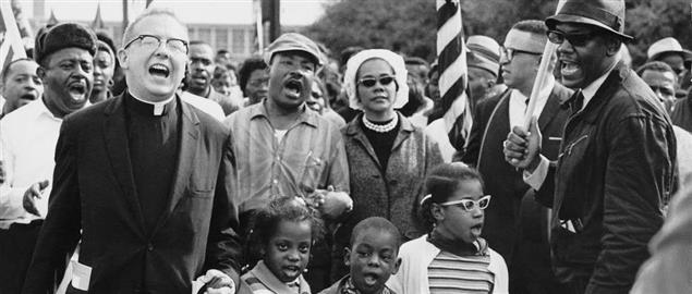 Martin Luther King leading the march from Selma to Montgomery Alabama.