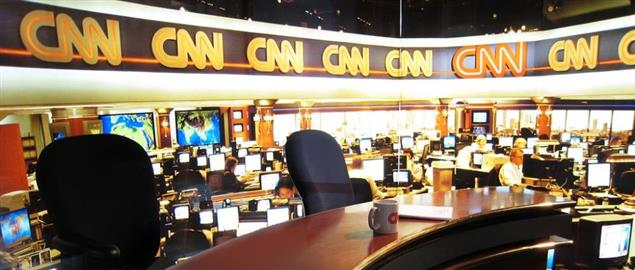 Replica of the newsroom at CNN Center.