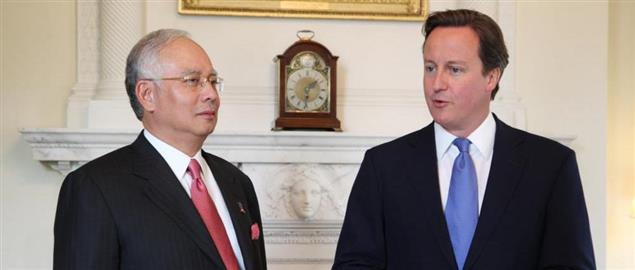 David Cameron with Prime Minister of Malaysia