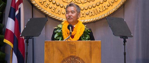 David Ige giving his 2014 Inauguration speech