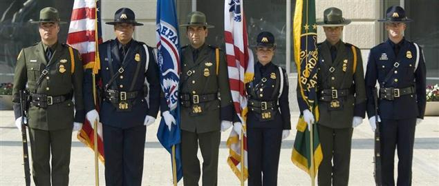 CBP Officers and Border Patrol Agents pay tribute to fellow fallen officers.
