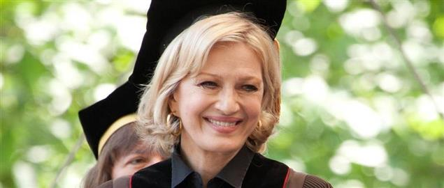 Diane Sawyer receives honorary degree from Brown University in 2012