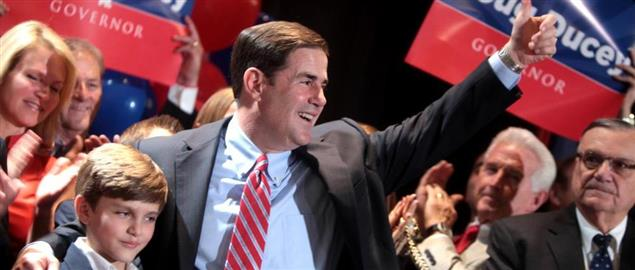 Ducey accepting his party's nomination for Governor of Arizona on August 26, 2014