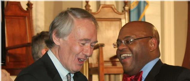 U.S. Representative Ed Markey and incoming U.S. Senator William