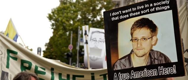 Snowden Protest in Germany
