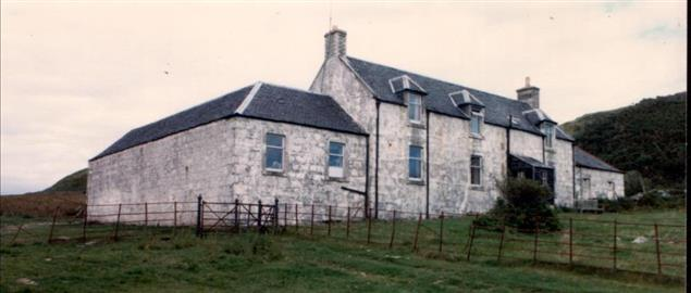 House on the island of Jura occupied by George Orwell when writing novel 1984