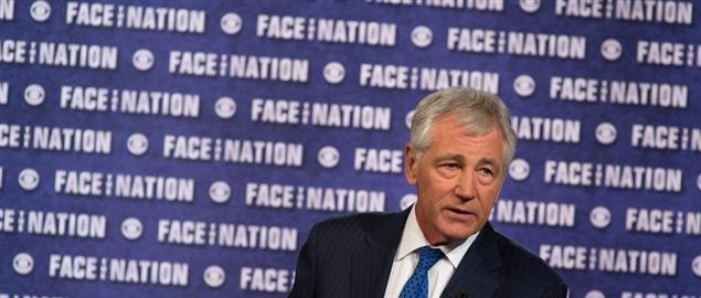 Secretary of Defense Chuck Hagel appears on Face the Nation