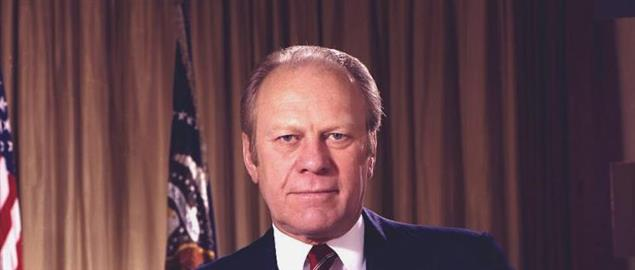 Gerald Ford, second official portrait of President.