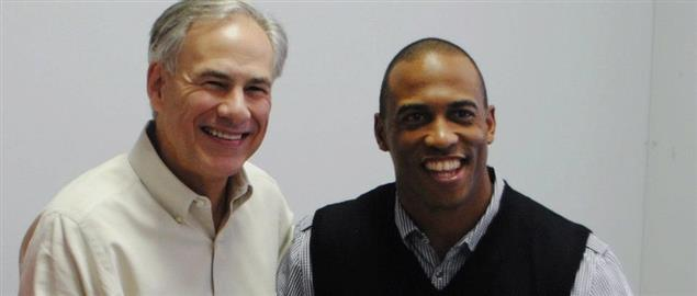 Texas Governor Greg Abbott and State Rep Scott Turner
