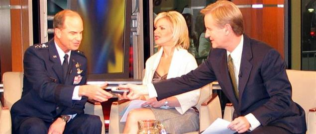 Fox & Friends Steve Doocy and Gretchen Carlson with General Kevin Chilton