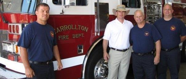 Austin Scott meeting with firefighters in Carrollton, GA