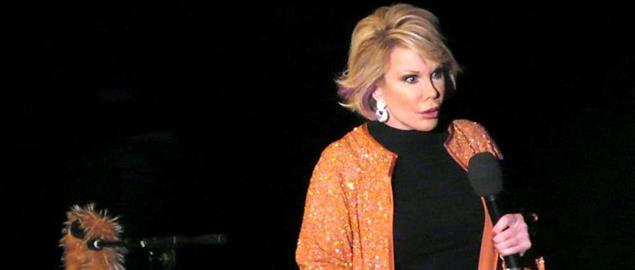 Joan Rivers performing standup in 2007