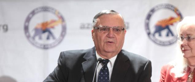 Joe Arpaio speaking at a campaign rally in Phoenix, Arizona.