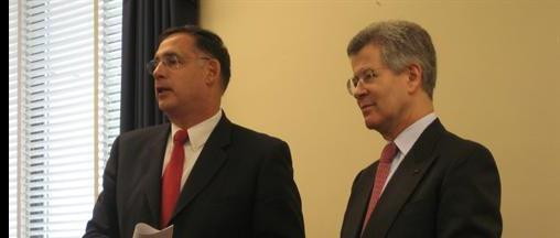 Rep. John Boozman and French Ambassador Jean-David Levitte in early 2007