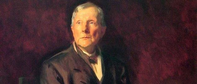 John D. Rockefeller, painted in 1917 at Rockefeller's winter home in Ormand Beach, Florida