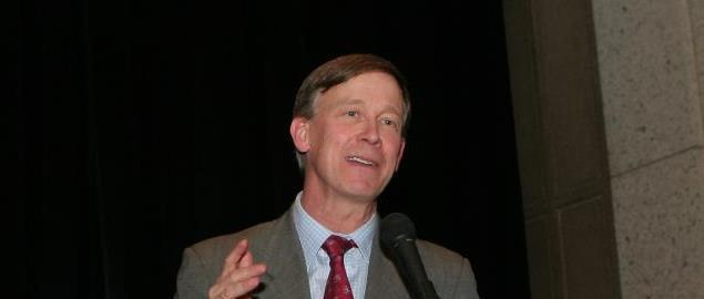 John Hickenlooper speaking at the Industry Growth Forum
