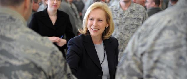 Sen. Kirsten Gillibrand meets members of the 106th Rescue Wing, Westhampton Beach, NY.