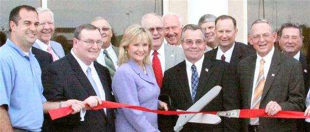 Governor Fallin at the ribbon cutting ceremony of the University Center in Pnca City, OK