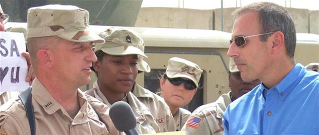 Matt Lauer during a 2006 trip to Iraq
