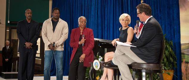 Mika Brzezinski, Joe Scarborough, and others at the 150th Anniversary of the USDA