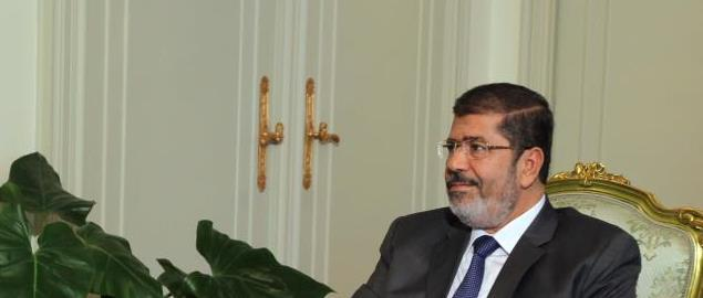 Ahmad Abdulla AlShaikh from Dubai visiting the new President of Egypt, Mohamed Morsi