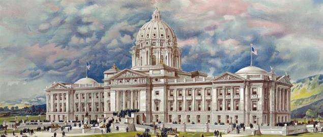 1896 Drawing of Montana State Capitol