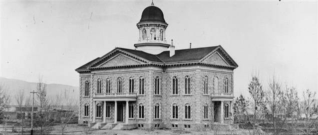 Nevada State Capitol in 1875
