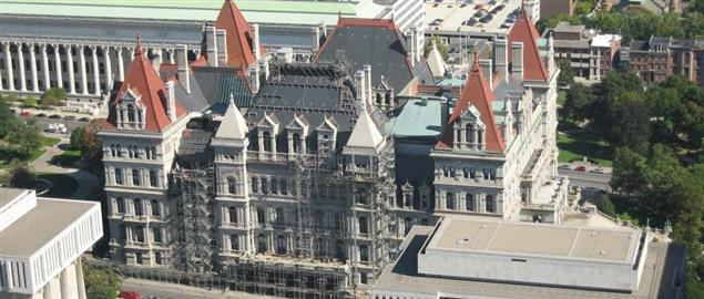 New York State capitol circa 2007 from corning tower.