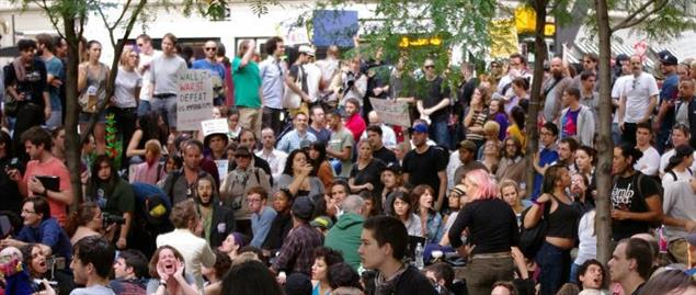 Occupy Wall Street protesters in New York City's Zuccotti Park