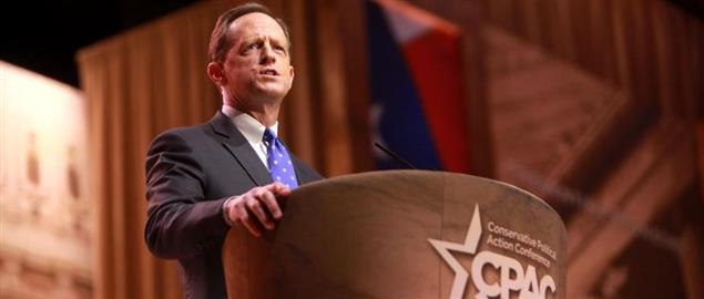 Pat Toomey speaking at CPAC 2014 in Washington, DC.