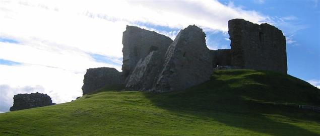 Duffus Castle, near Elgin in Scotland.