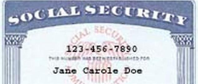 Example of Modern Social Security Card in United States