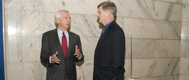 Governor Beshear discussing the role of weather radios in disaster preparedness