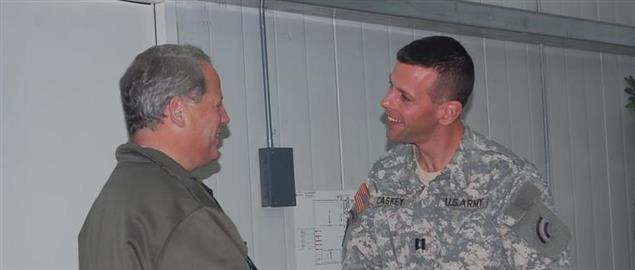 Congressman Steve Israel visiting National Guard soldiers stationed in Iraq
