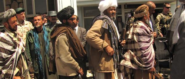 Former Taliban fighters returning their arms, GHOR, Afghanistan 5/28/2012.
