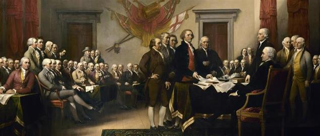 : John Trumbull's painting, Declaration of Independence