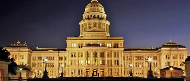 Texas State Capitol at night