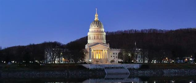 West Virginia State Capitol Riverside View
