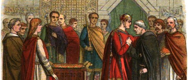 William the Conqueror pays court to the English leaders.